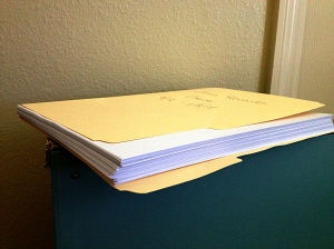 This is what ONE year of medical records from ONE doctor looks like. Now imagine 13 years with MANY doctors....
